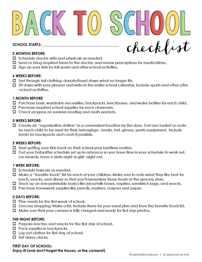 Back-to-School-Checklist
