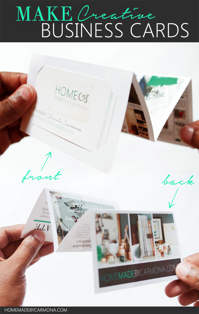 Make Creative Accordion fold Business Cards