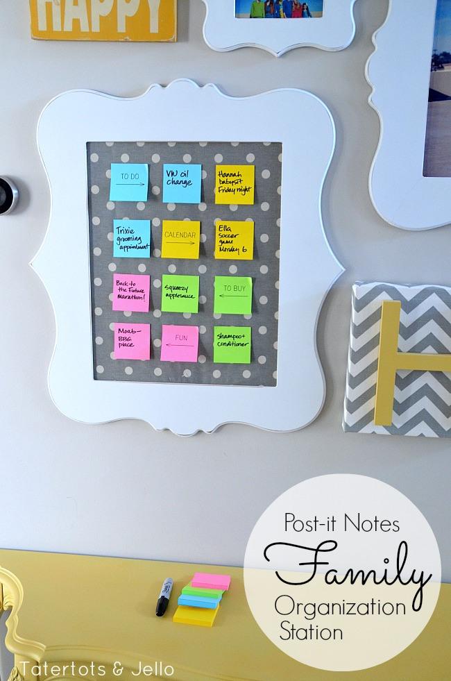 post-it-notes-family-organization-station-tutorial-