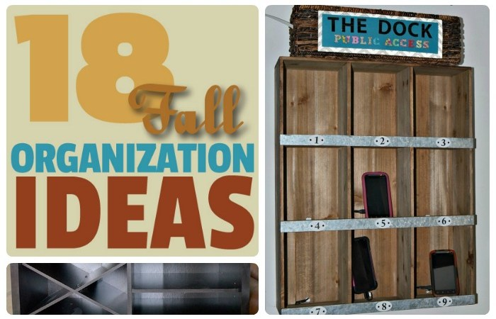18 Fall Organization Ideas!
