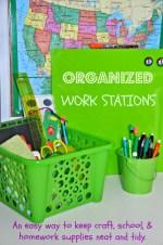 DIY Homework Stations