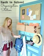 Make an Easy Back to School Organization Station!