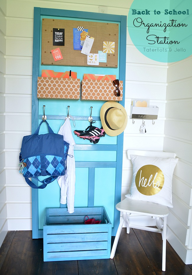 back to school organization station