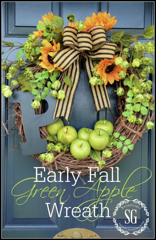 green apple wreath