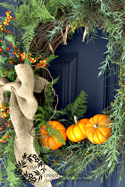 little pumpkin wreath