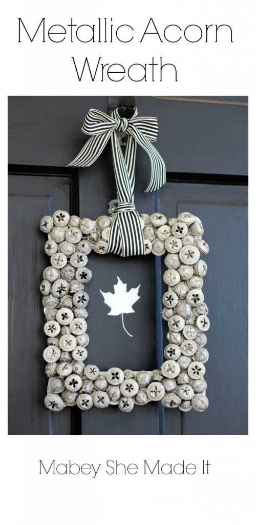 metallic acorn wreath