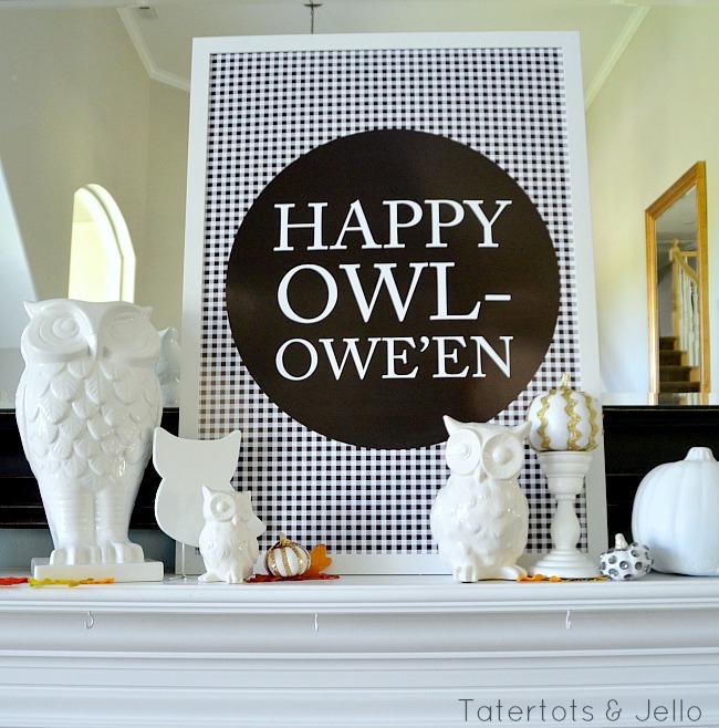 Happy Owleen free printable at tatertots and jello