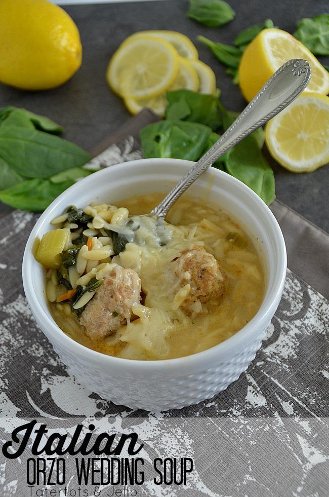 Italian orzo wedding soup