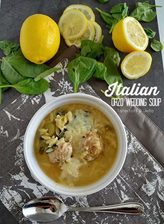 Italian orzo wedding soup recipe at tatertots and jello