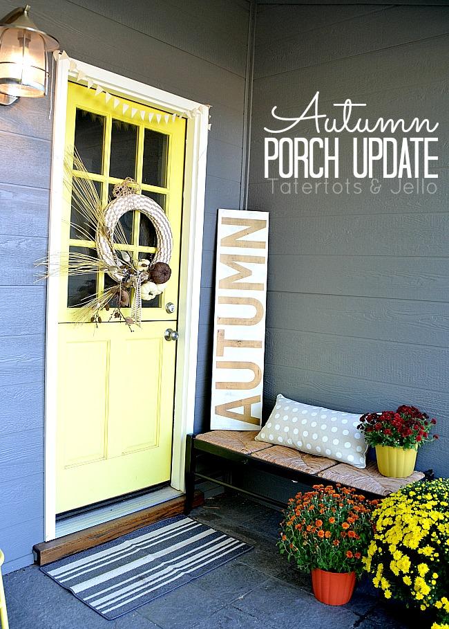autumn porch update