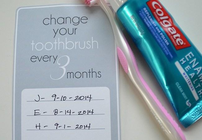 """Change Your Toothbrush"" Free Printable – #ColgateEnamelHealth"