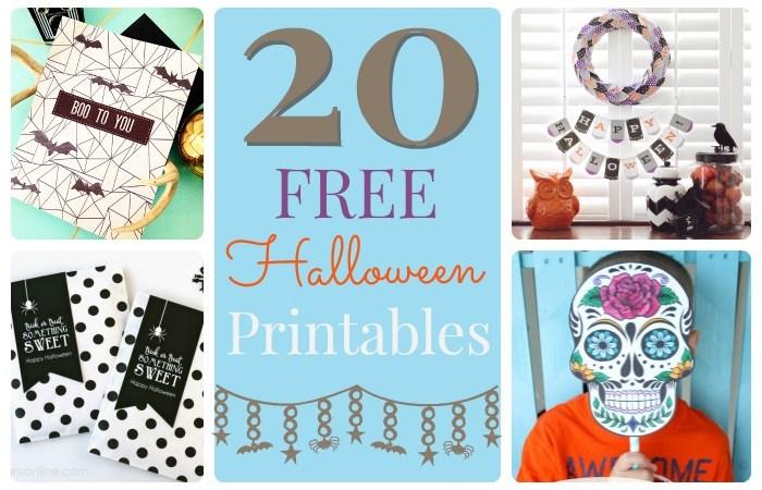 Great Ideas — 20 Free Halloween Printables!