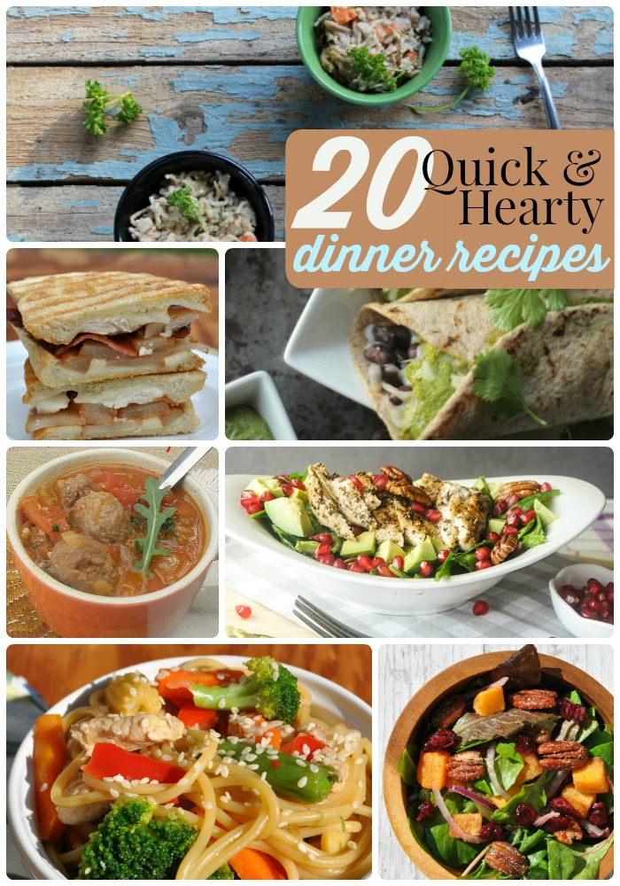 20 quick and hearty dinner recipes
