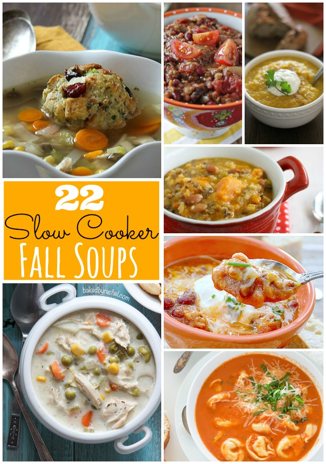 22 Slow Cooker Fall Soups!!