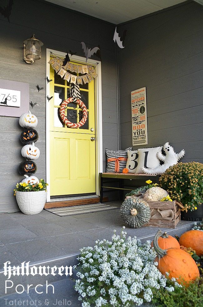 halloween bat porch