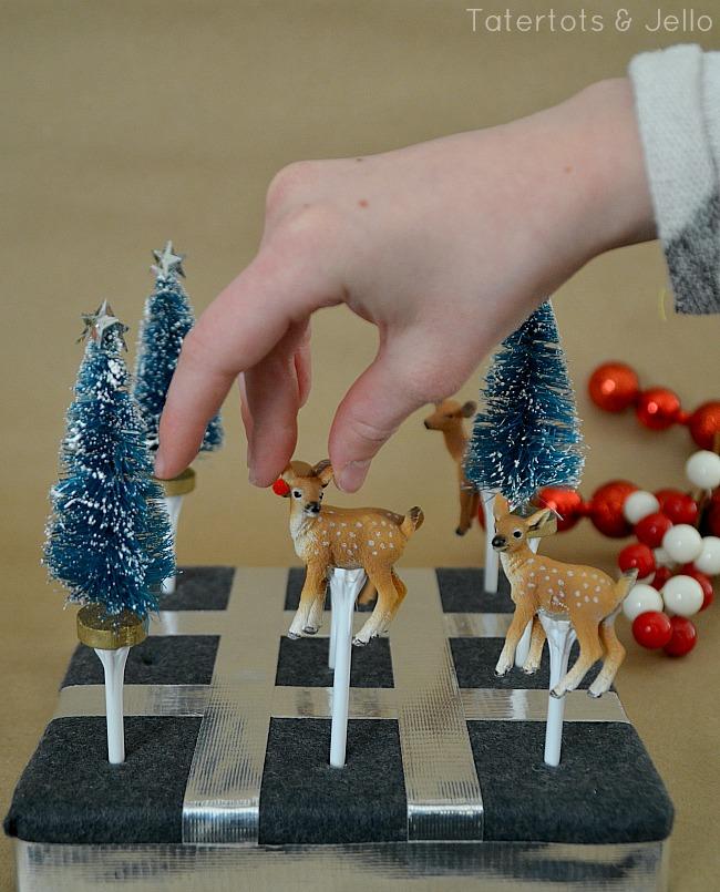 Holiday tic tac toe game idea at tatertots and jello