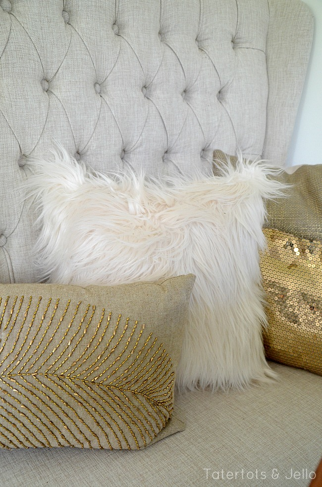 better homes and gardens furry pillow