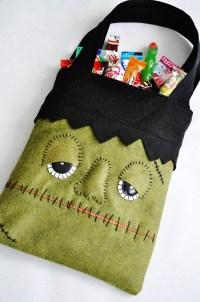 DIY Monster Trick or Treat Bag - Tatertots and Jello