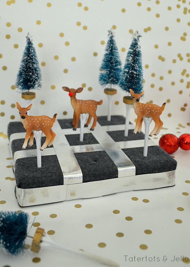 holiday tic tac toe gift idea