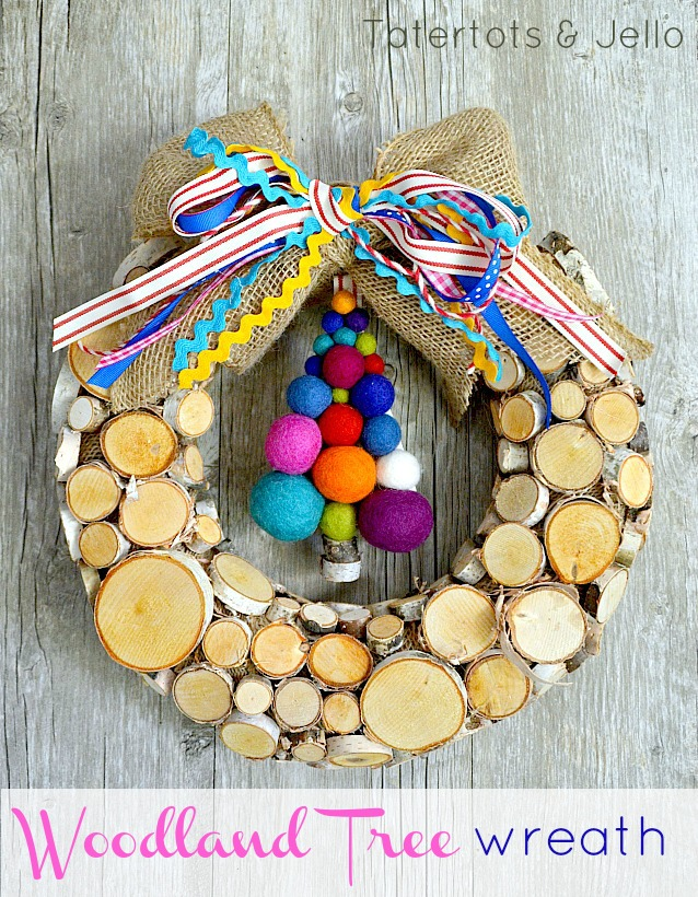 2014 woodland tree christmas wreath at tatertots and jello