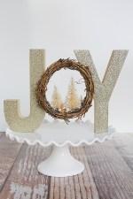 HAPPY Holidays: Décor boisé scintillant