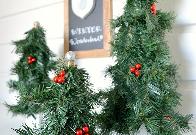 Winter Wonderland Evergreen Trees DIY!