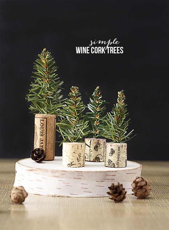 Simple Wine Cork Trees