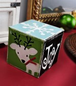 HAPPY Holidays: DIY Distressed Wood Christmas Block