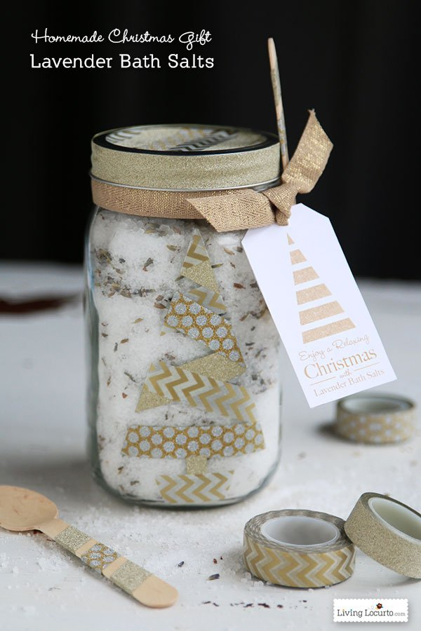 HAPPY Holidays Lavender Bath Salt Gift in a Jar  Tatertots and Jello