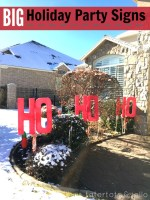 Holiday Party Yard Signs (Ho, Ho Ho!)