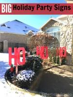 Signes de cour de fête de vacances (Ho, Ho Ho!)