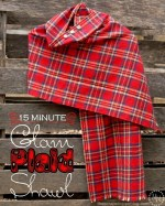 HAPPY Holidays: Last Minute Gift Idea — 15 Minute Glam Plaid Shawl
