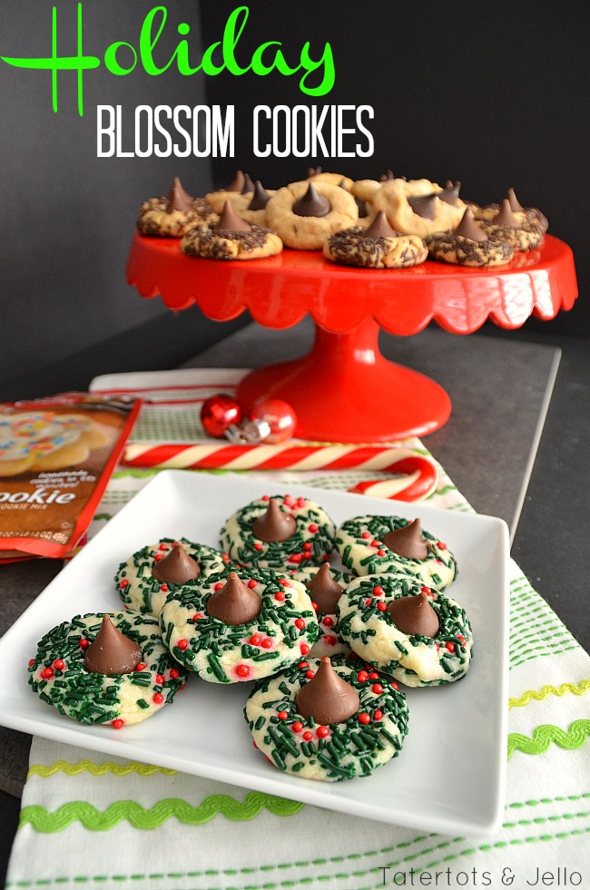 holiday blossom cookie recipe at tatertots and jello