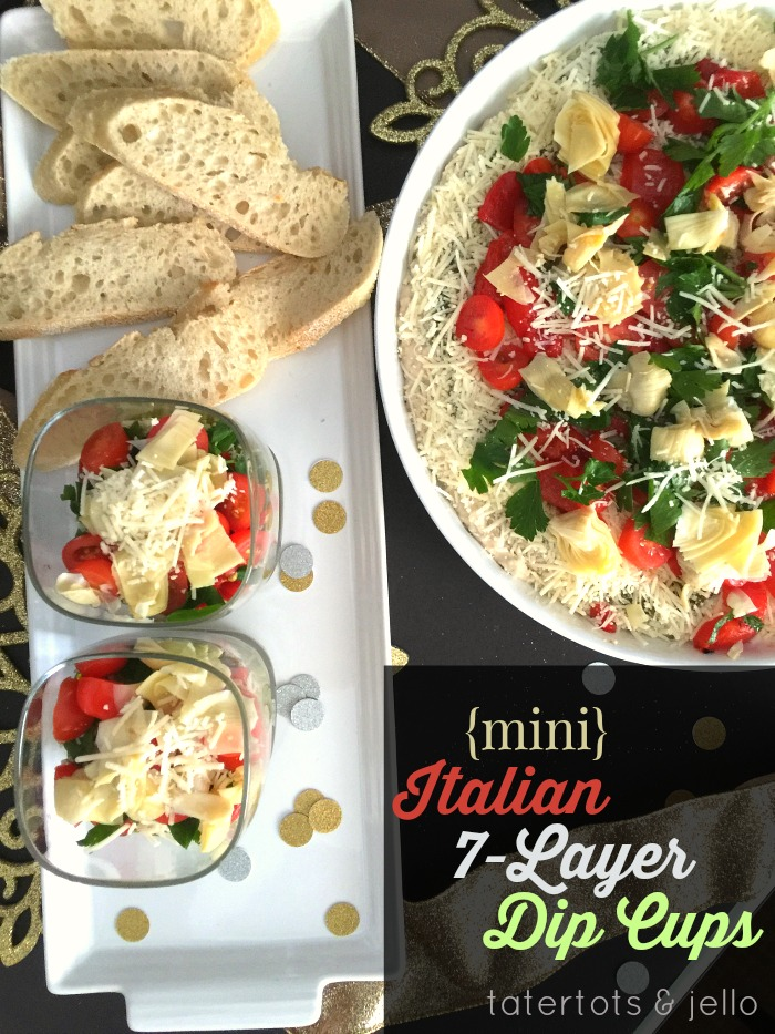 Italian 7-layer dip appetizer