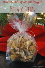 HAPPY Holidays: Chocolate and Peppermint Drizzled Potato Chips
