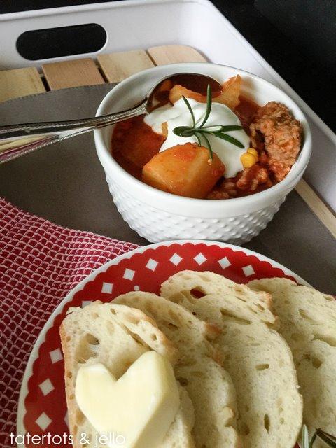 Tuscan potato and sausage slow cooker soup
