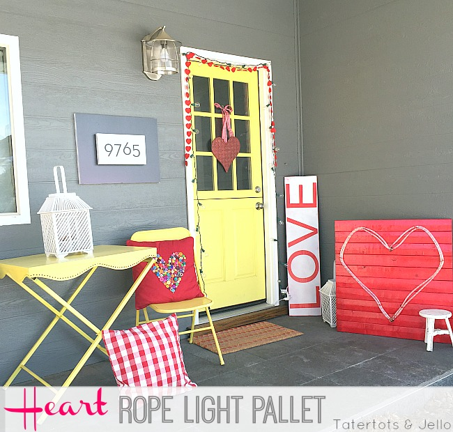 heart rope light pallet project at tatertots and jello
