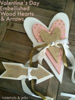 Valentine's Day Embellished Wood Hearts and Arrows!