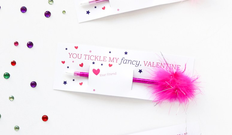 "Free Printable ""Fancy"" Class Valentine Idea!"