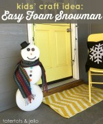 Kids' Craft: Easy Foam Snowman!