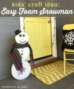 Kids' Craft: Easy Foam Snowman!