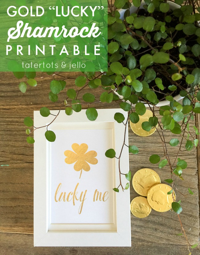 st. patricks day lucky printable