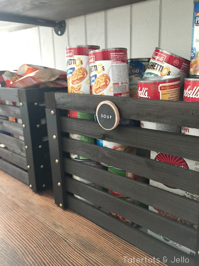rustic pantry organization