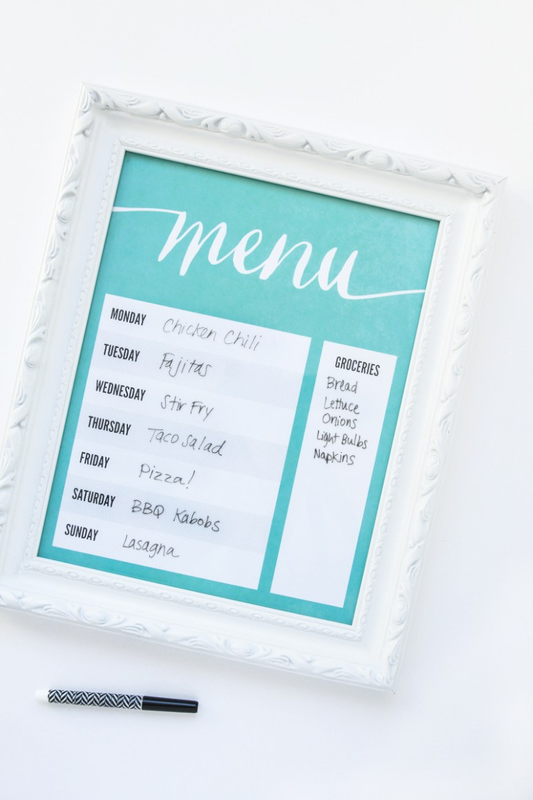 Make-A-Dry-Erase-Menu-Board