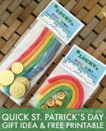 Quick St. Patrick's Day Gift Idea & Free Printable!