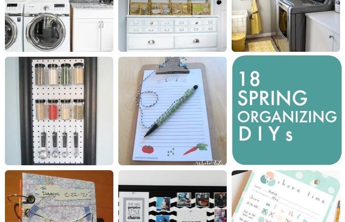 Great Ideas — 18 Spring Organizing DIYs!