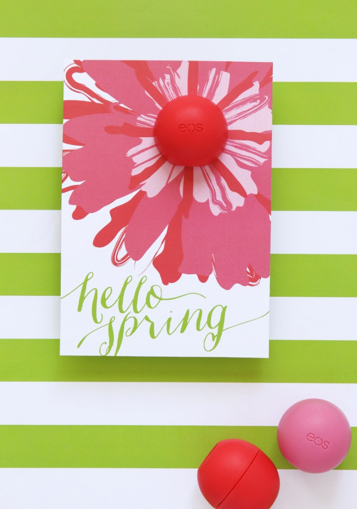EOS Spring Lip Balm Card and printable