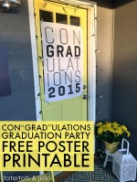 "Con""grad""ulations Graduation Party Free Poster Printable!"