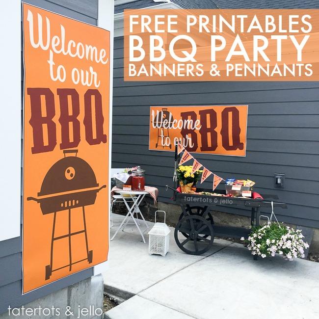 Free summer BBQ printables