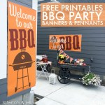 BBQ Party Free Printables – free banners, signs poster and more!